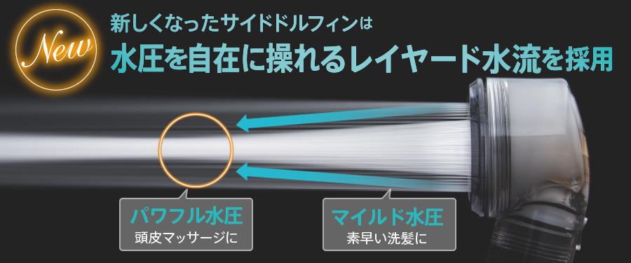 マイクロバブルシャワーヘッド「SideDolphin(サイドドルフィン)」リニューアル!レイヤード水流採用。